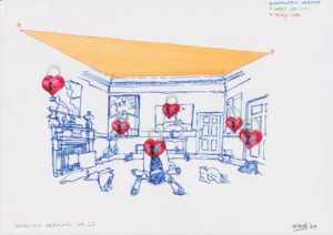 Drawing hearts, locks and Stanley Kubrick.