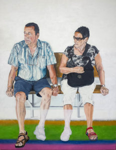 A portret of my parents in oil paint.