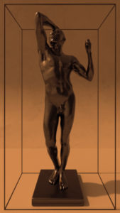 videostill The Bronze Age from Rodin in a frame.