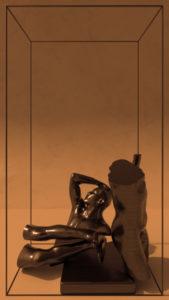 Rodin's famous sculpture in four pieces.