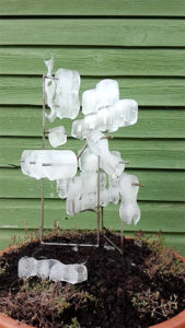 Sculpture with melting ice on it.