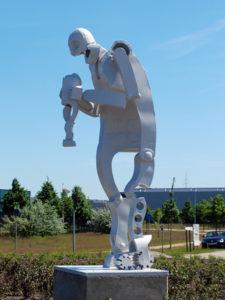 Saturn sculpture Lommel Belgium.
